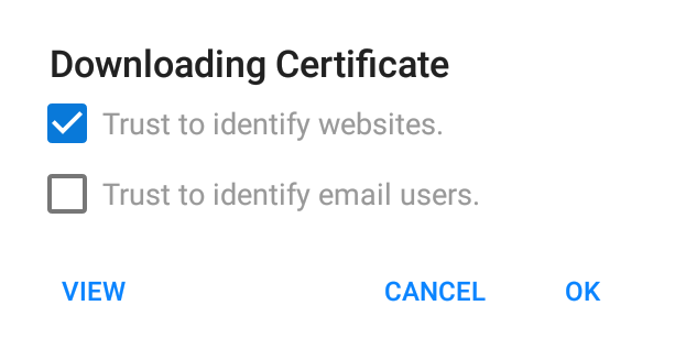 Firefox Trust Certificate - Checked